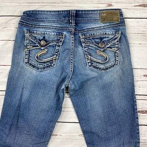 Women's Silver Size 29 SukiSurplus Slim Boot Jeans